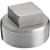 "1-1/4"" Plug, 304 Stainless Steel, MNPT, Class 150, 300 PSI"