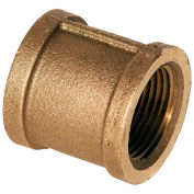 "1"" Lead Free Brass Coupling, FNPT, 125 PSI - Pkg Qty 25"