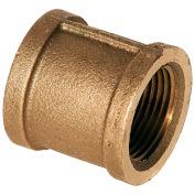 "1"" Lead Free Brass Coupling, FNPT, 125 PSI - Pkg Qty 25"