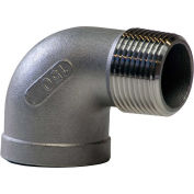 "1-1/2"" 90 Degree Street Elbow, 304 Stainless Steel, MNPT X FNPT, Class 150, 300 PSI"