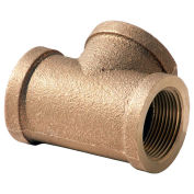 "1-1/4"" Lead Free Brass Tee, FNPT, 125 PSI"