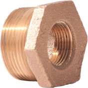 "3/4"" x 1/2"" Bushing, Lead Free Brass, MNPT X FNPT, 125 PSI"