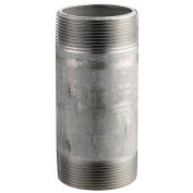 "1-1/4"" x 4"" 304 Stainless Steel Pipe Nipple, 16168 PSI, Sch. 40"