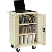 Mobile Storage & Charging Cart, 36 iPad® Tablet Device Capacity, Putty, Assembled