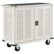 Mobile Storage & Charging Cart, 24 Laptop & Chromebook™ Device Capacity, Putty, Assembled