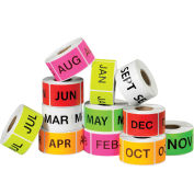 "Tape Logic 2"" x 3"" Easy Order Months Of The Year Packs 500 Labels Per Roll 12 Rolls, DL1238"