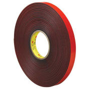 "Double Sided VHB Acrylic Foam Tape 3/4"" x 5 Yds 45 Mil Gray - 3M 4611"