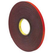 "Double Sided VHB Acrylic Foam Tape 1/2"" x 5 Yds 45 Mil Gray - 3M 4611"