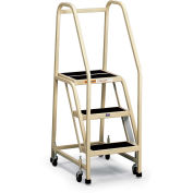 EGA F013 Office Ladder 3-Step, Rubber Surface, Gray, 450Lb. Capacity