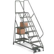 EGA P004 Stock Picking Ladder 9-Step, Perforated, Gray, 450Lb. Capacity
