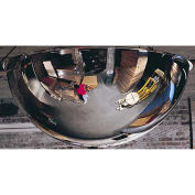 360-Degree Steel Full Dome Mirror - Indoor, 24 Diameter