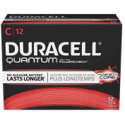 C Quantum Alkaline Batteries - Pkg Qty 12