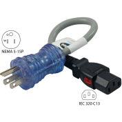 13-Amp, Hospital/Medical Grade Power Cord with Push Lock