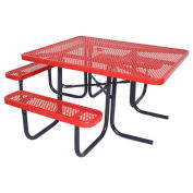"""46"""" ADA Square Table, Surface Mount, Red"""