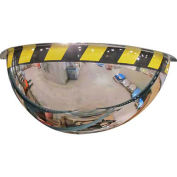 "Acrylic Half Dome Mirror with Safety Border, 26"" Diameter"
