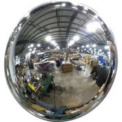 """Acrylic DomeVex Wide View Convex Mirror with T Mounting Bracket, 32"""" Diameter"""