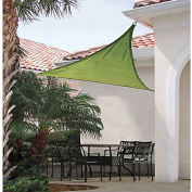 ShelterLogic ShadeLogic Sun Shade Sail Heavy Weight Triangle 16 ft. x 16 ft. Lime Green