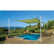 ShelterLogic ShadeLogic Sun Shade Sail Heavy Weight Square 12 ft. x 12 ft. Lime Green