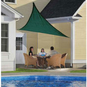 ShelterLogic ShadeLogic Sun Shade Sail Heavy Weight Triangle 12 ft. x 12 ft. Evergreen