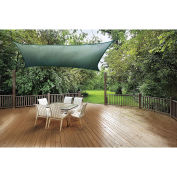 ShelterLogic ShadeLogic Sun Shade Sail Heavy Weight Square 12 ft. x 12 ft. Evergreen