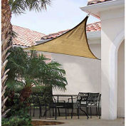 ShelterLogic ShadeLogic Sun Shade Sail Triangle 12 ft. x 12 ft. Sand