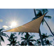 ShelterLogic ShadeLogic Sun Shade Sail Triangle 16 ft. x 16 ft. Sand