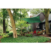 ShelterLogic ShadeLogic Sun Shade Sail Heavy Weight Square 16 ft. x 16 ft. Evergreen