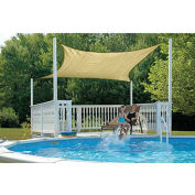 ShelterLogic ShadeLogic Sun Shade Sail Square 16 ft. x 16 ft. Sand