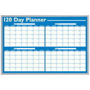 Magna Visual 120-Day Non-Magnetic Dry Erase Planner, White, 36 x 24