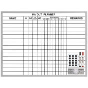 "Magna Visual In/Out Planner, 18"" x 24"", White, 24 x 18"
