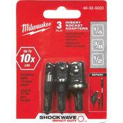 "Milwaukee Shockwave Insert Sckt Adptr Set (1/4"", 3/8"", 1/2""), 48-32-5023"