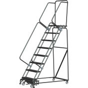 """Ballymore WA082414G 8 Step Safety Rolling Ladder, Weight Actuated Lock Step 16""""W Serrated Step"""