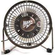 "MaxxAir™ 4"" High Velocity Desk Fan, 1-Speed, 5V DC, Bronze,"