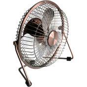 """MaxxAir™ HVDF6 6"""" High Velocity Desk Fan, 1-Speed, 5V DC, Bronze,"""
