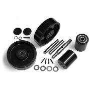 GPS Complete Wheel Kit for Manual Pallet Jack - Fits Valu-Jack, Model # VJ 5500 & 6600