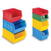 "Schaefer Extra-Large Stacking Bins, Blue, 12""W x 20""D x 8""H - Pkg Qty 6"