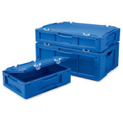 "Schaefer Attached-Lid Container, 16""L x 12""W x 9""H - Blue"