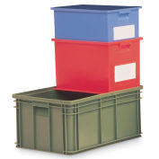 """Schaefer Stacking Transport Container, 12-5/16""""L x 8-5/16""""W x 5-13/16""""H, Blue - Pkg Qty 20"""
