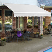 """Awntech Retractable Awning Right Motor 24'W x 10""""D x 10""""H Off White"""