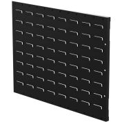 "Louvered Panel, Flanged, 24""W x 18""H, Black"