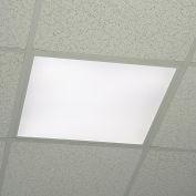 LED Panel Light, Recessed, 2'x2', 40W, white frame, 3600 lumens, 4000K