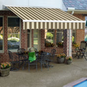 "Awntech Retractable Awning Manual 14'W x 10""H x 10'D Brown/Tan"