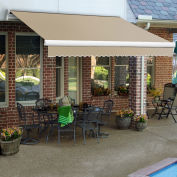 Awntech Retractable Awning Right Motor 14'W x 11/16'H x 10'D Linen