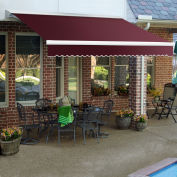 "Awntech Retractable Awning Manual 14'W x 10""H x 10'D Burgundy"
