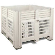 "Macro Plastics MacroBin® Bulk Container, 44-3/4""L x 48-1/4""W x 29-7/8""H, Ivory"