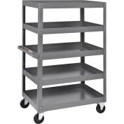 "Multi-Level Steel Shelf Truck, 5 Shelves, 800 Lb. Capacity, 36""L x 24""W x 60""H"