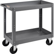 "2 Shelf Deep Tray Steel Stock Cart, 800 Lb. Capacity, 30""L x 16""W x 32""H"