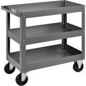 "3 Shelf Deep Tray Steel Stock Cart, 800 Lb. Capacity, 30""L x 16""W x 32""H"