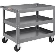 "3 Shelf Deep Tray Steel Stock Cart, 800 Lb. Capacity, 36""L x 24""W x 32""H"