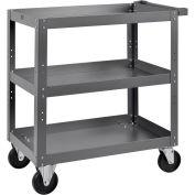 "3 Shelf Steel Stock Cart, 800 Lb. Capacity, 30""L x 18""W x 36""H"